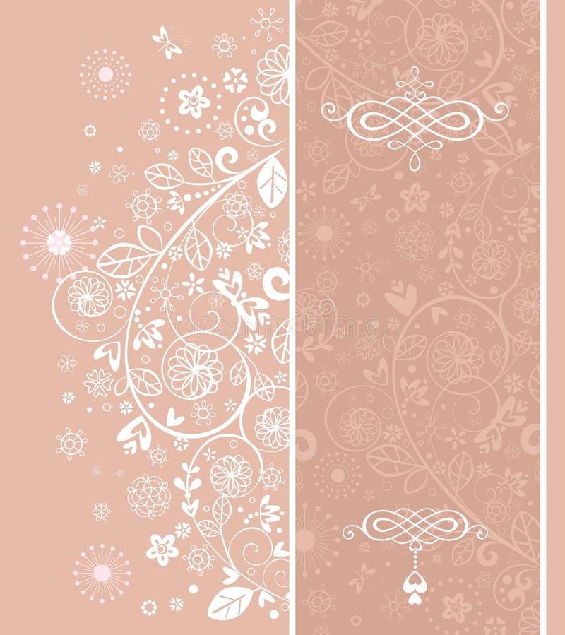 Invitation de mariage de rose en pastel illustration de vecteur
