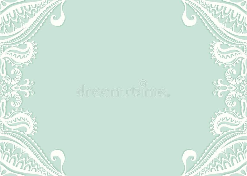 Invitation de mariage ou design de carte de salutation avec illustration stock
