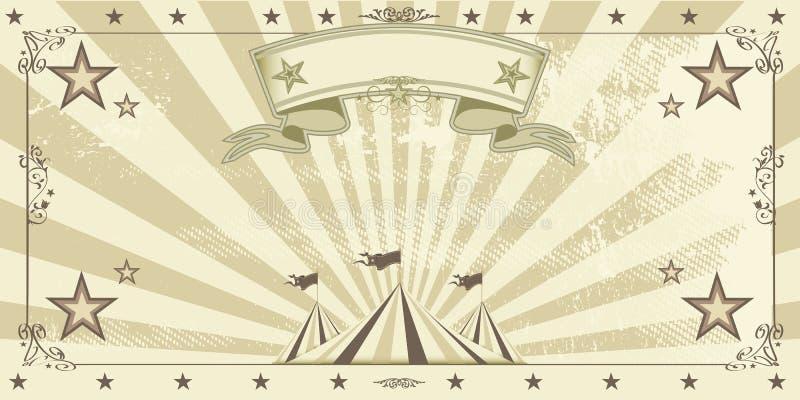 Invitation de papier d'emballage de cirque illustration de vecteur