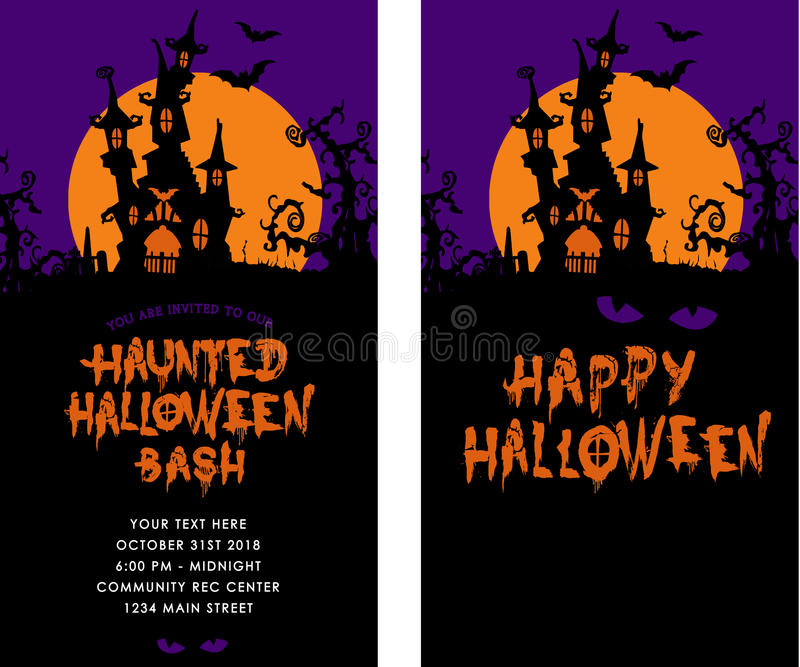 Invitation de partie de Halloween illustration libre de droits