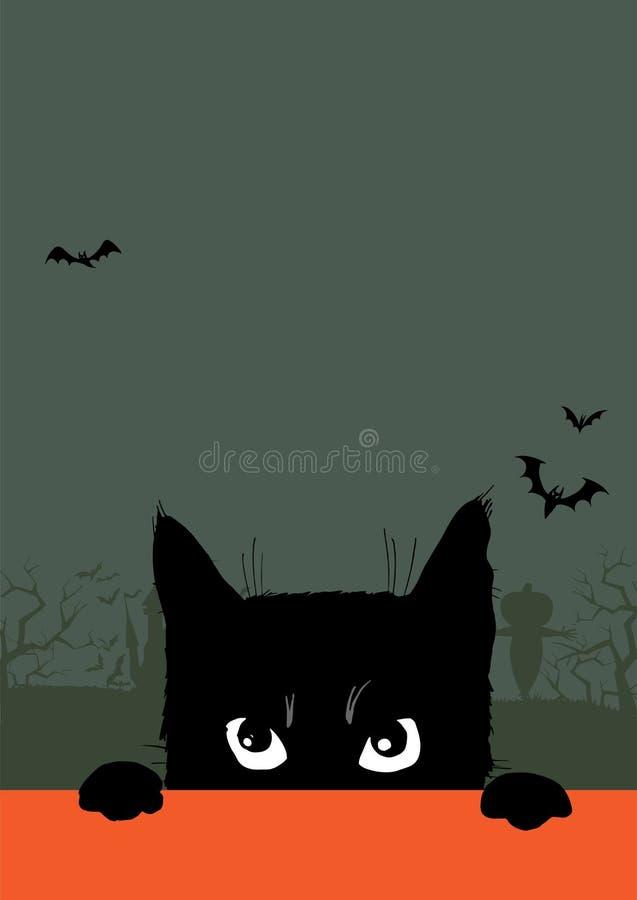 Invitation de partie de Halloween illustration de vecteur