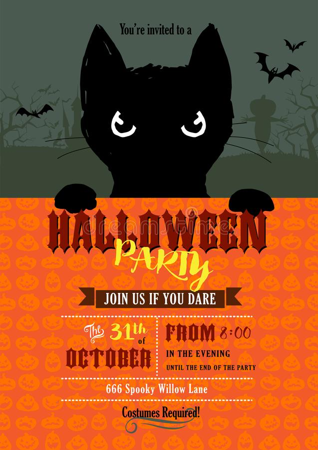 Invitation de partie de Halloween illustration libre de droits