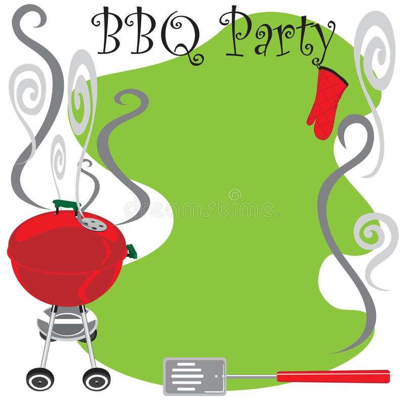 Invitation de réception de BBQ illustration libre de droits