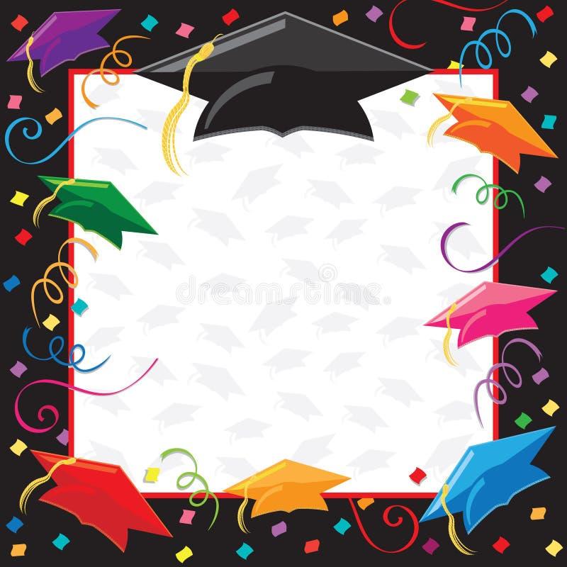 Invitation de réception de graduation illustration de vecteur