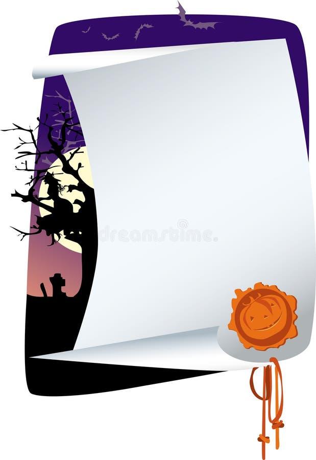 Invitation de Veille de la toussaint illustration de vecteur