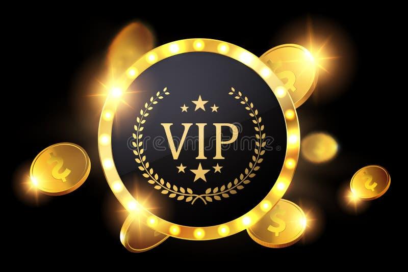 Invitation de VIP avec l'insigne d'or, vecteur illustration libre de droits