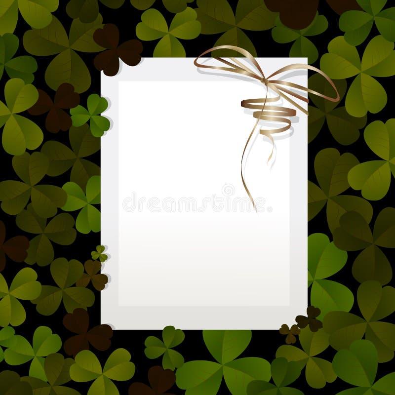 Invitation pour le jour de St Patrick illustration libre de droits