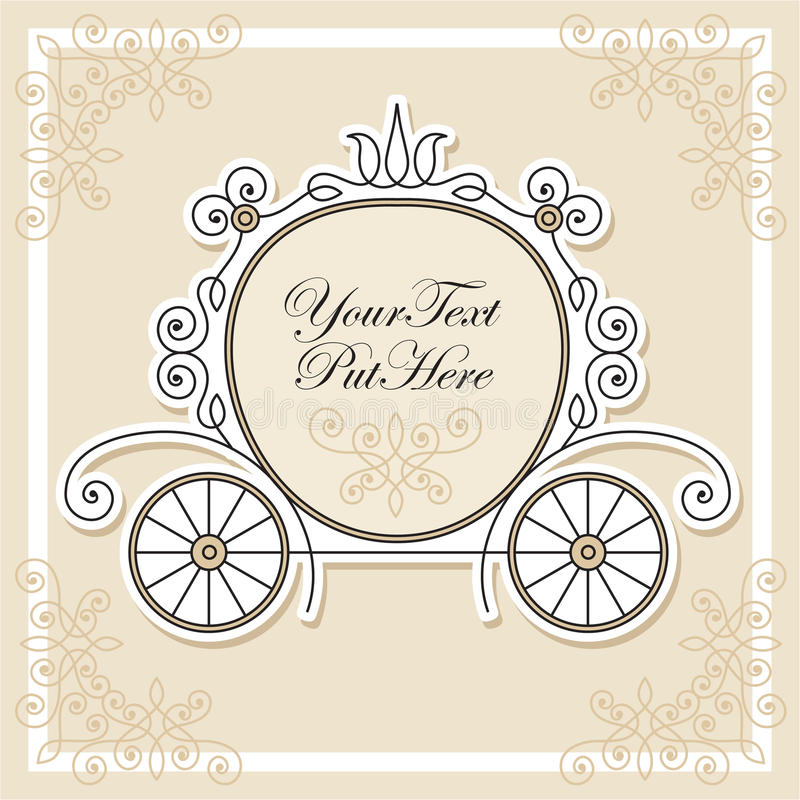 Free Invitation Design With Carriage Royalty Free Stock Image - 18964106