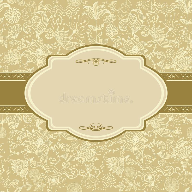 Download Invitation Floral Card In Vector Stock Vector - Image: 24741569