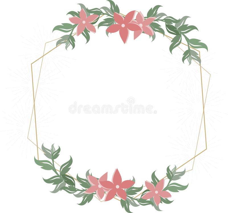 Invitation florale de mariage illustration stock