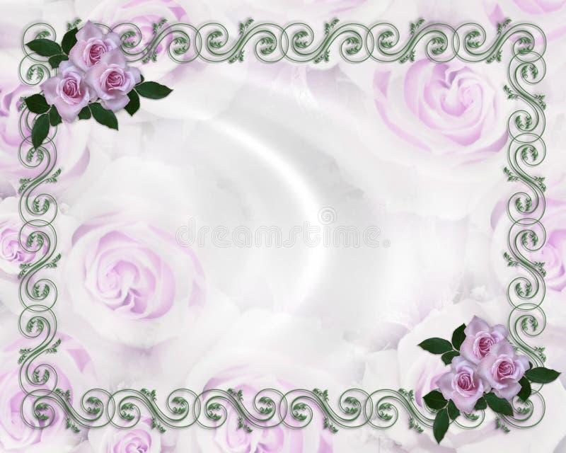 Invitation florale de mariage de cadre de roses de lavande illustration libre de droits