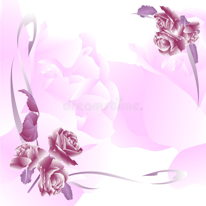 Invitation florale pour des événements de durée illustration stock