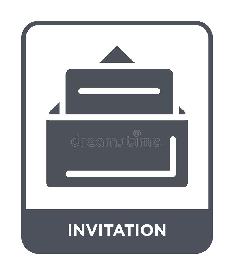invitation icon in trendy design style. invitation icon isolated on white background. invitation vector icon simple and modern vector illustration