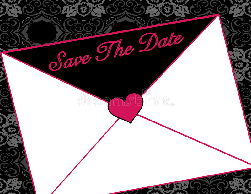 Save The Date Invitation Stock Photography
