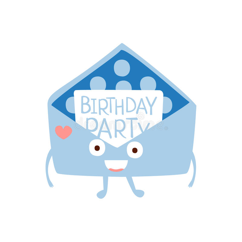 Invitation Mail Envelop Children Birthday Party Attribute Cartoon ...
