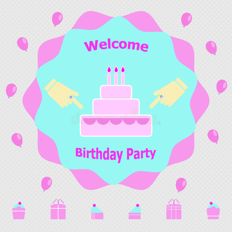 Invitation Message For Birthday Party Stock Vector - Illustration of ...