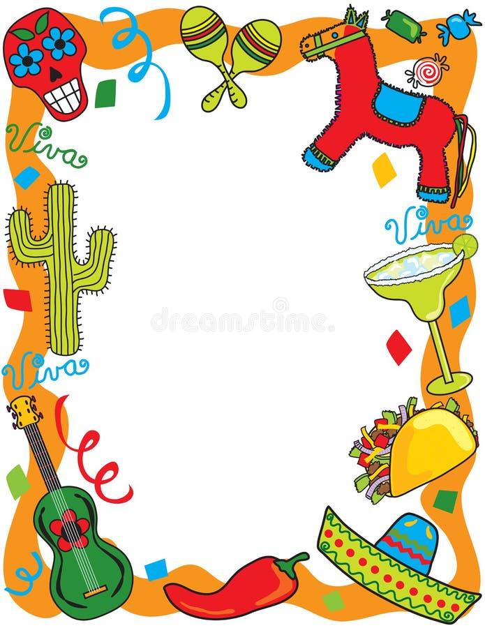 Invitation mexicaine de réception de fiesta illustration libre de droits