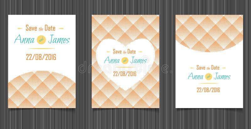 Download Invitation Moderne De Mariage Avec Une Conception Abstraite Illustration de Vecteur - Illustration du dessin, contexte: 76088924
