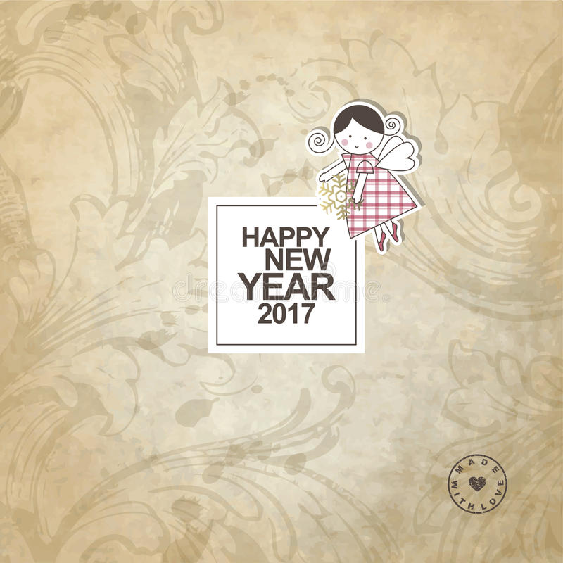 invitation new year διανυσματική απεικόνιση