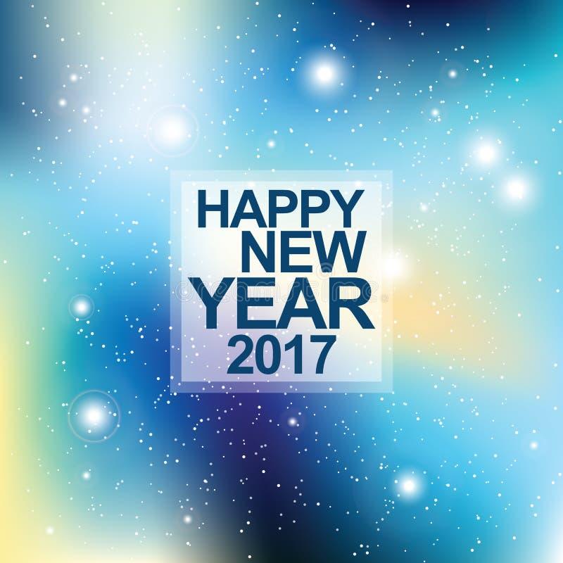 invitation new year Universum med stjärnor Matris av glödande stjärnor Spa vektor illustrationer