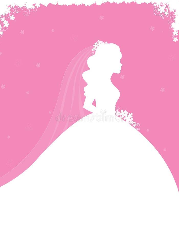 Invitation nuptiale de douche illustration de vecteur