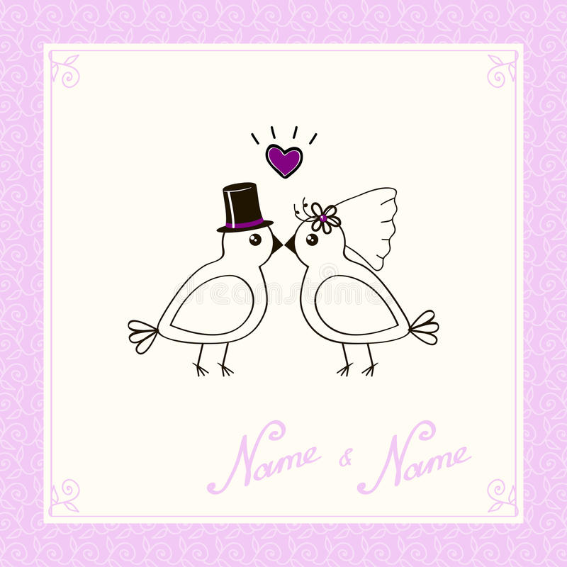 Free Invitation Of A Birdie Royalty Free Stock Images - 27440589