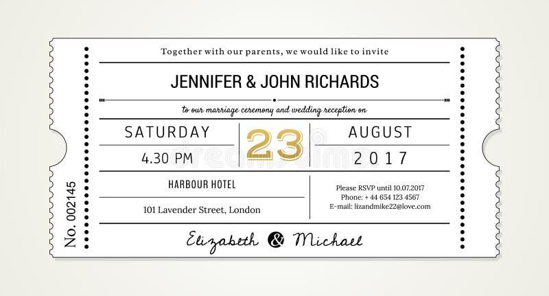 Invitation pinte de mariage 1 calibre - invitez (les polices utilisées étant énuméré dans le dossier) image libre de droits