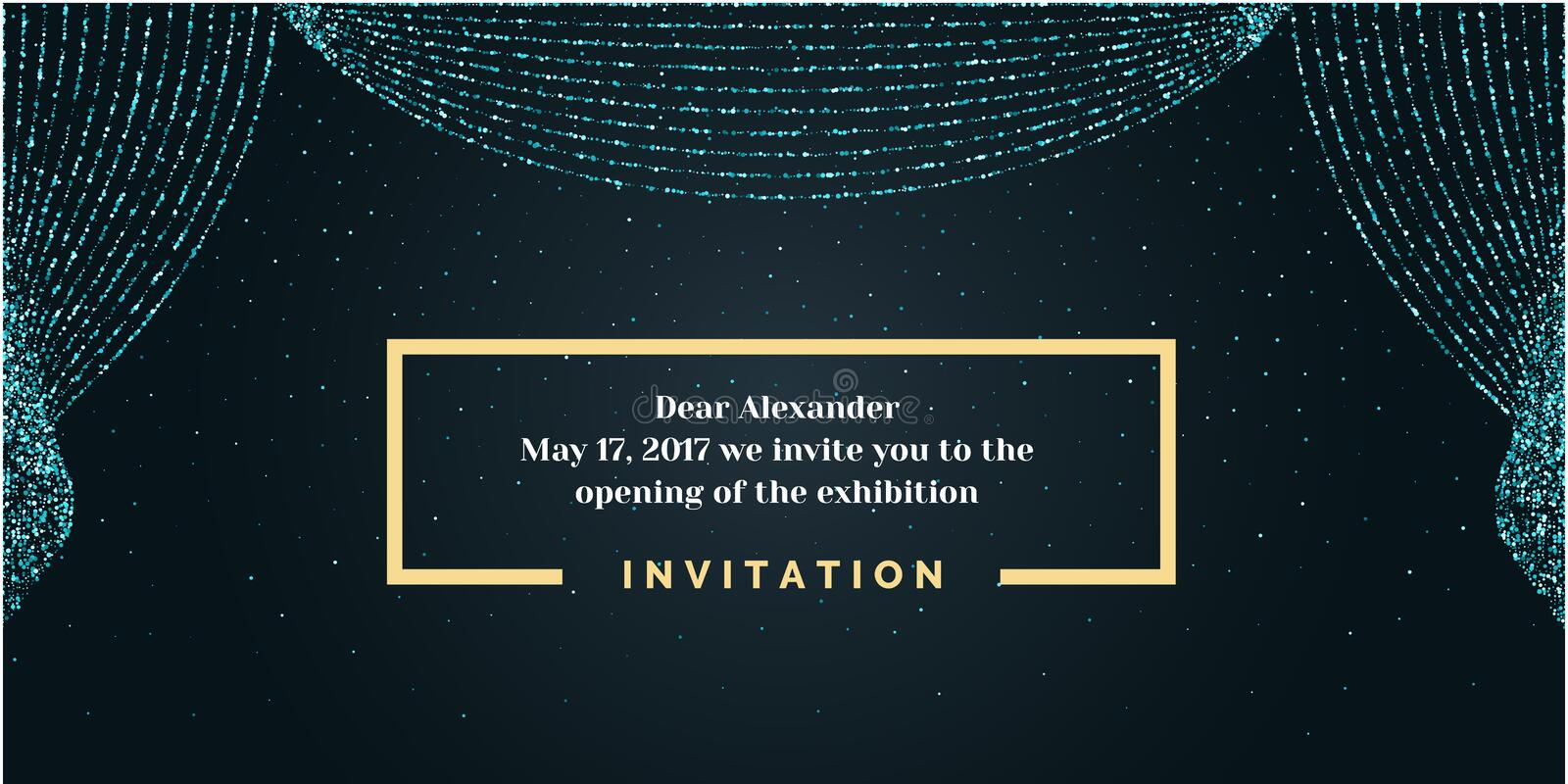 Invitation Template For The Event Background Open Curtain