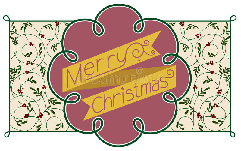 Invitation Template With Merry Christmas Typograph Stock Photos