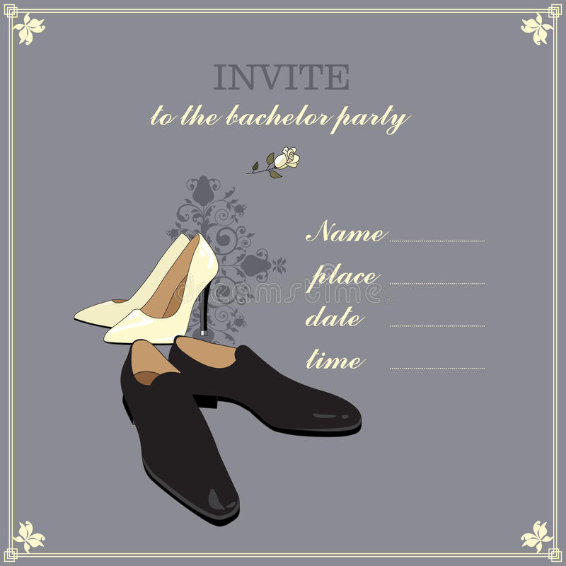 The invitation to the bachelor party. Design invitations to the bachelor party royalty free illustration