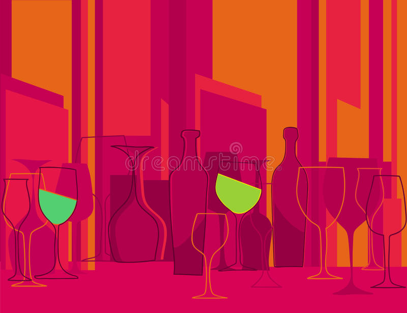 Invitation to cocktail party in retro style vector illustration