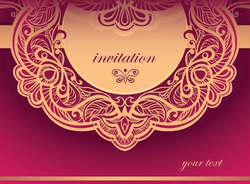 Invitation to the purple tones. Vector background vector illustration