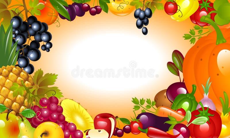 Invitation to Thanksgiving. Vegetable, fruit background