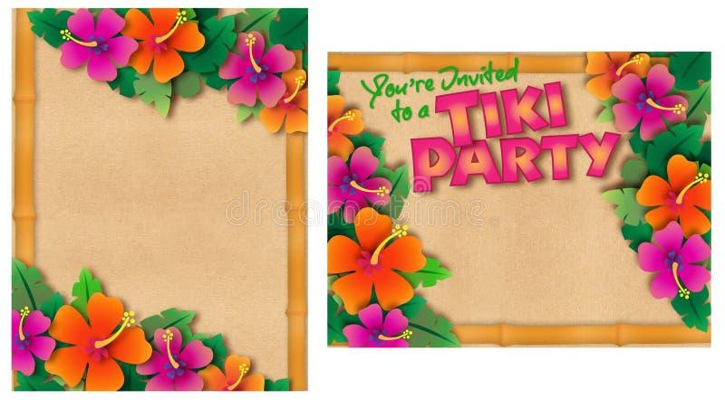 Invitation tropicale de réception illustration libre de droits