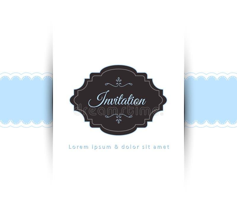 Invitation. Vector illustration of Invitation back vector illustration