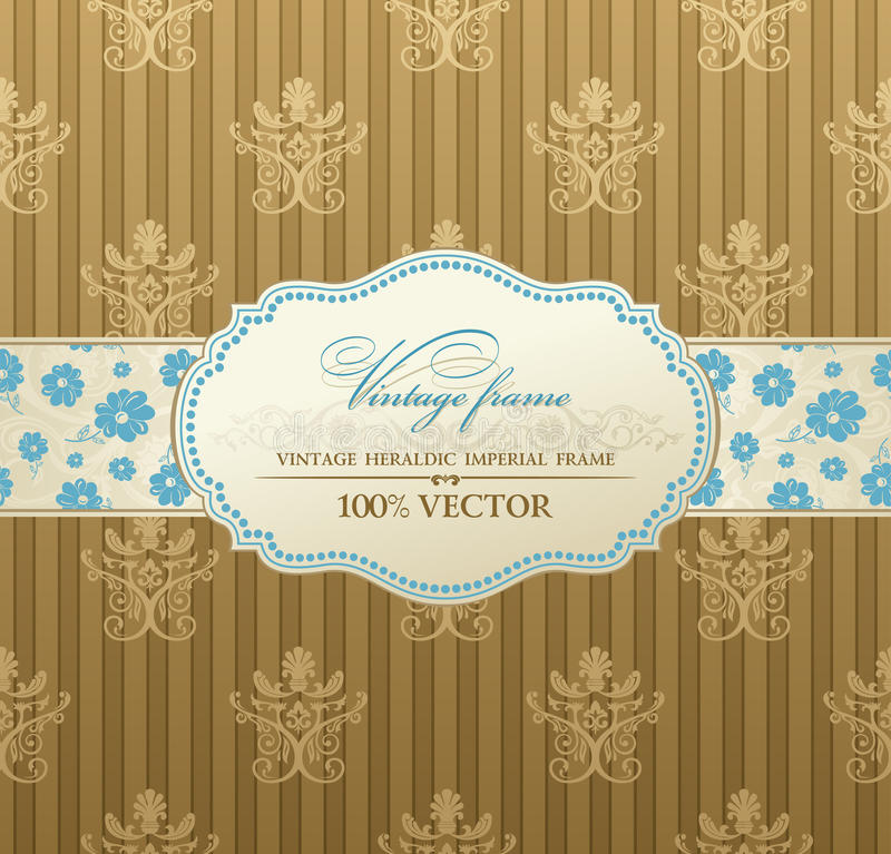 Invitation Vintage Label  Frame Royalty Free Stock Photo