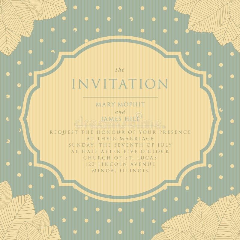Invitation Vintage Style Scrapbooking Stock Vector - Illustration of ...