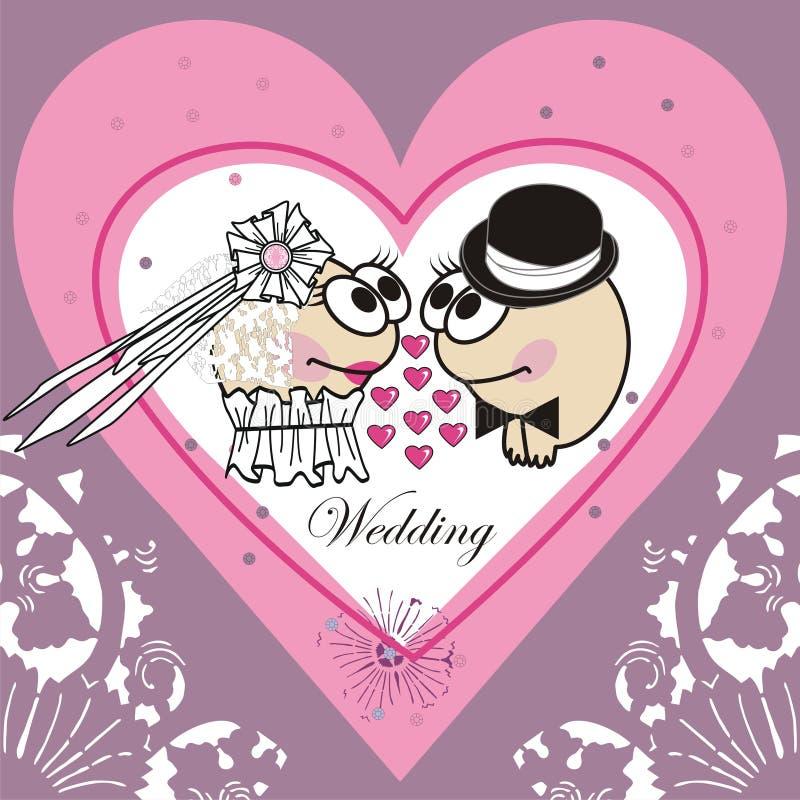 Download Invitation Wedding Card (Animated Cartoon). Stock Vector - Illustration: 30246516