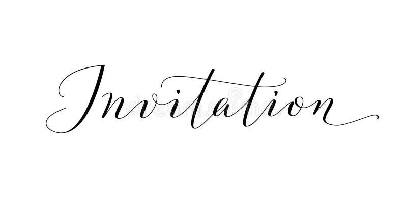 Invitation word hand written custom calligraphy isolated on white download invitation word hand written custom calligraphy isolated on white stock vector illustration stopboris Images