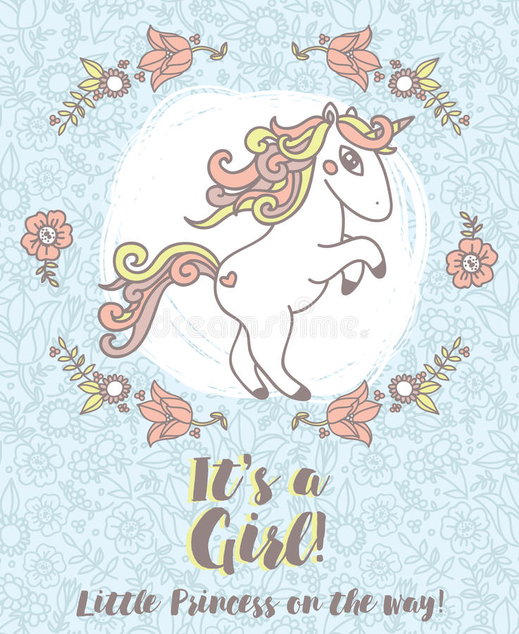 Invitations for baby shower with cute unicorn stock vector download invitations for baby shower with cute unicorn stock vector illustration of decoration cute filmwisefo