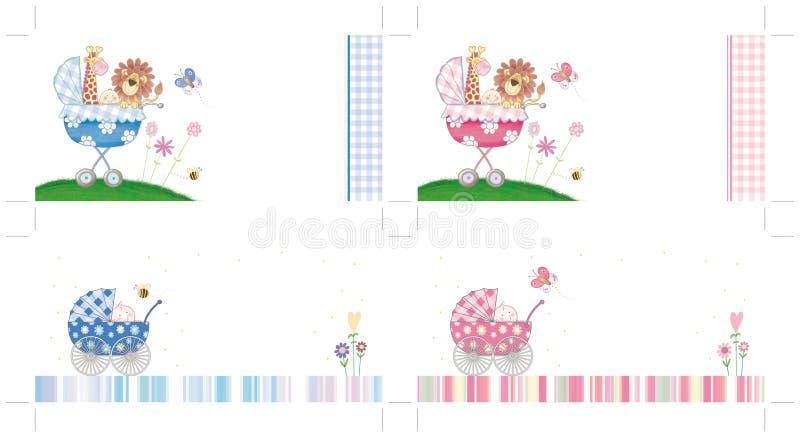 Invitations De Baptême Réglées Illustration Stock