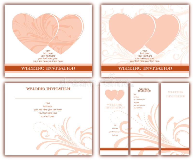 Invitations de mariage illustration stock