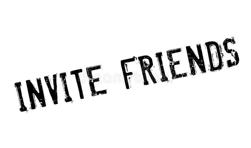 Invitez le tampon en caoutchouc d'amis illustration libre de droits