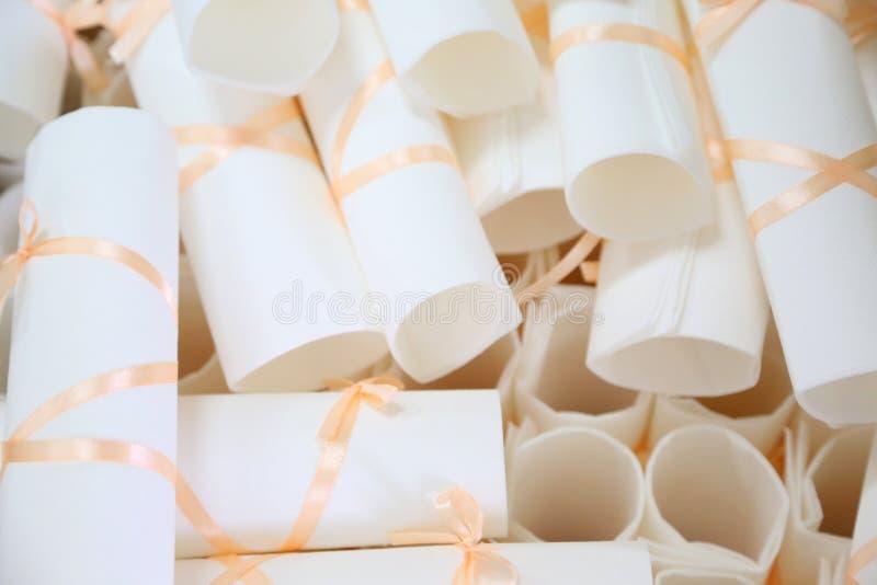 Inviti di nozze fotografia stock