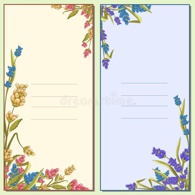 Inviting floral letter, card, poster royalty free illustration