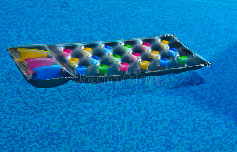 Download Inviting lilo in the pool stock image. Image of relax - 19927615
