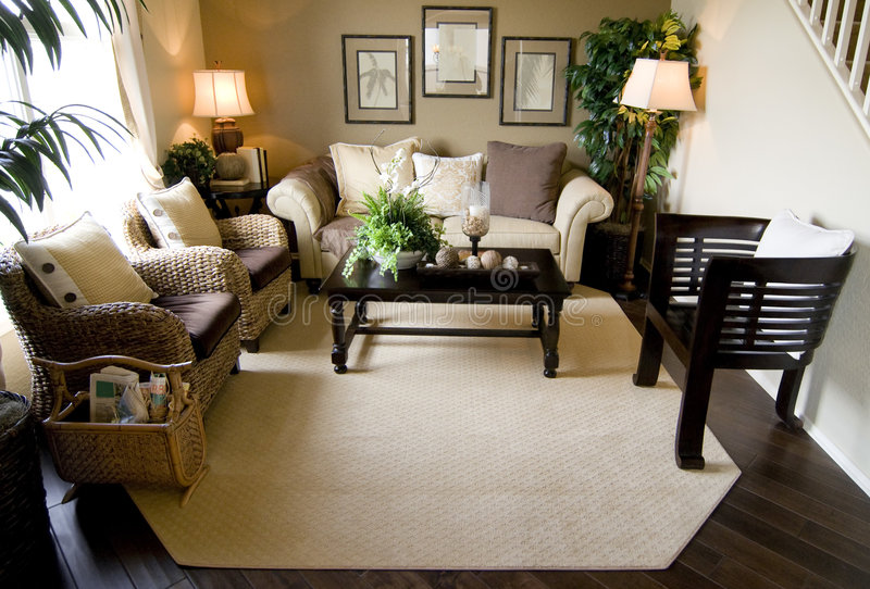 Inviting modern living room royalty free stock photography