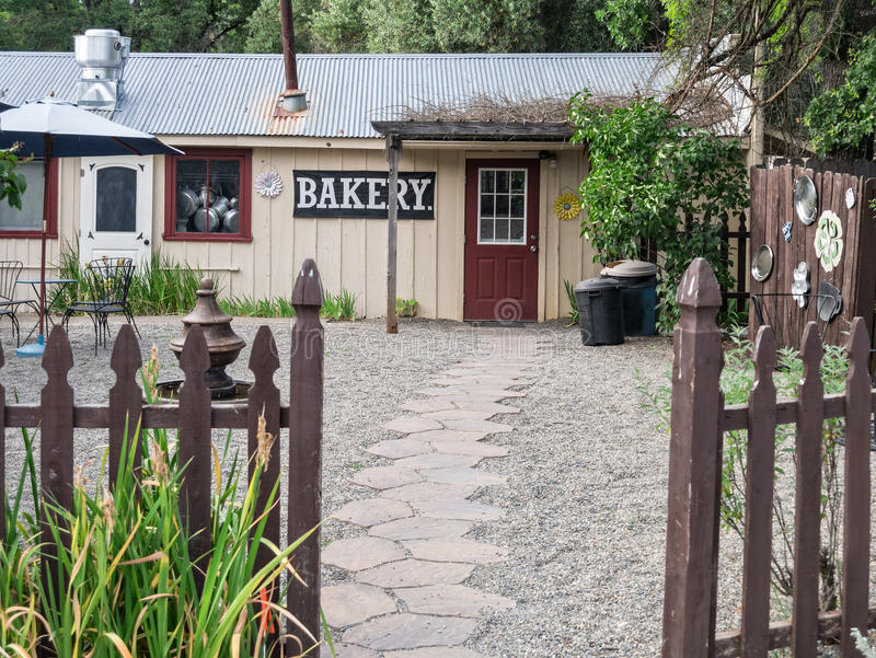 Inviting small-town bakery stock photo