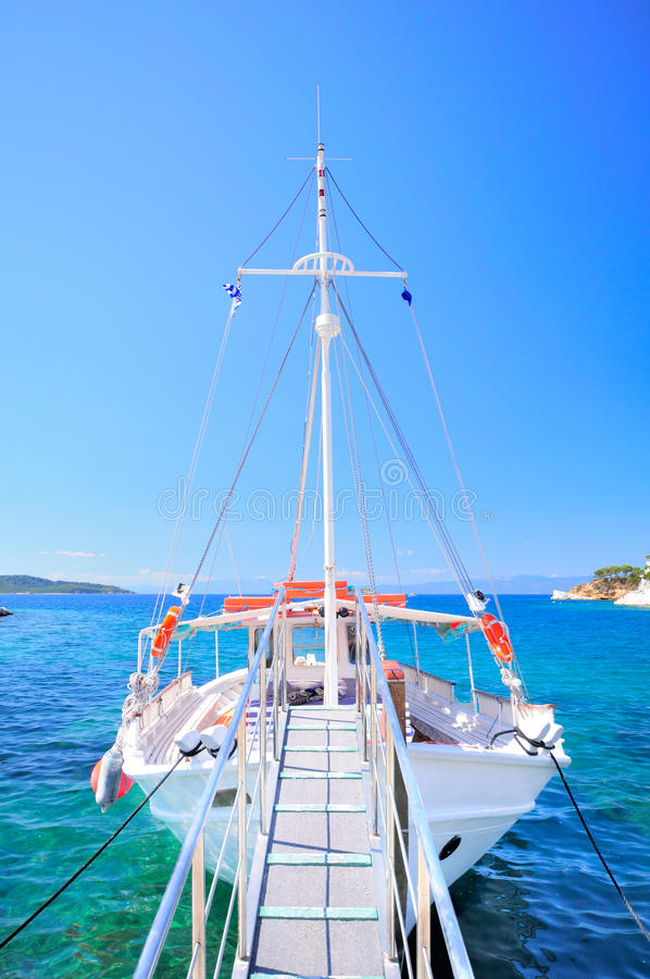 Download Inviting tour boat, Greece stock image. Image of archipelago - 39502133