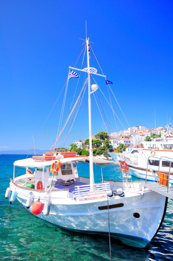Download Inviting tour boat, Greece stock image. Image of ship - 39502533